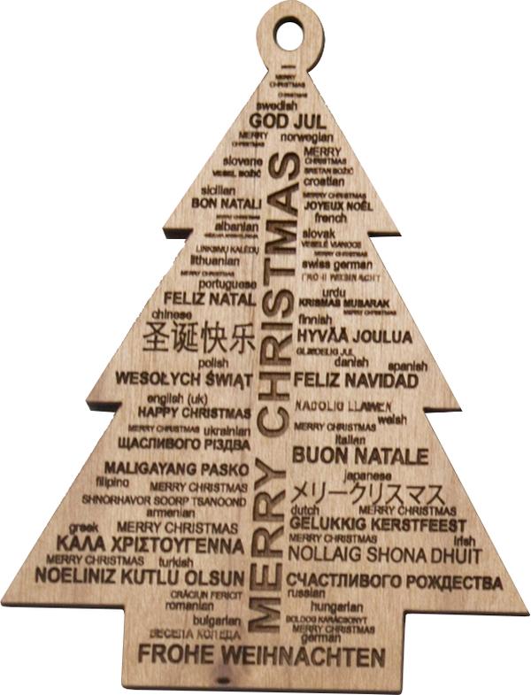 Buon Natale Ornament.Christmas Ornament Merry Christmas Around The World