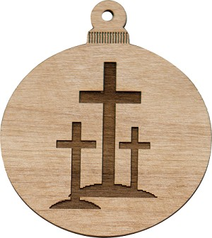 Christmas  Ornament - 3 Crosses
