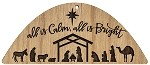 Christmas  Ornament - All Is Calm & Bright - Manger Scene