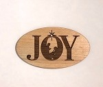 Christmas  Ornament - Joy (engraved background)