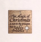 Christmas  Ornament - Magic of Christmas (engraved background)