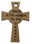 Celtic Cross - Jesus Is the Reason For The Season (with hole)