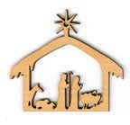 Christmas Ornament - Nativity (cut out)