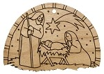 Christmas  Ornament -Nativity (Semi circle)