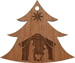 Christmas  Ornament -Tree w/Manger