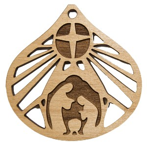 Christmas  Ornament - Nativity (Tear drop - cut out background)